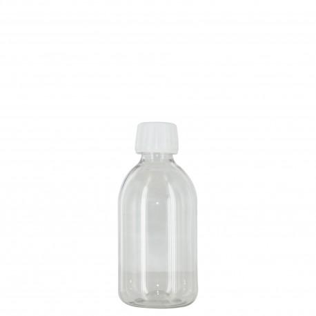 """Flacon 250 ml """"sirop"""" + bouchon/réducteur"""