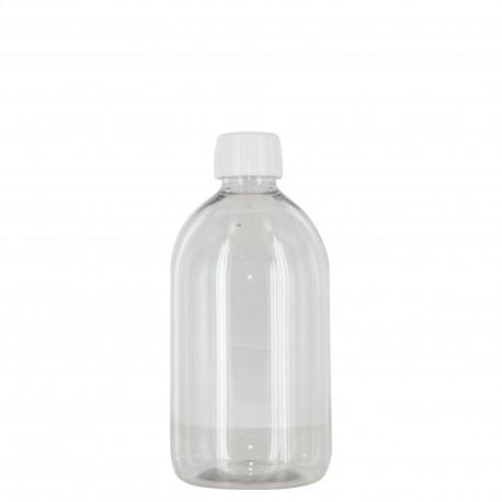 """Flacon 500 ml """"sirop"""" + bouchon/réducteur"""