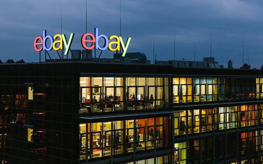 Logo Ebay sur batiment
