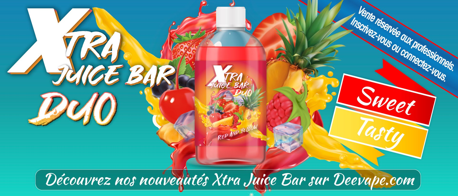 XTRA JUICE BAR DUO - RED AND YELLOW